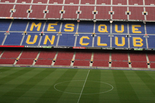 view from the stands - mes que un club