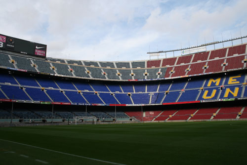 the Camp Nou - Gol Nord