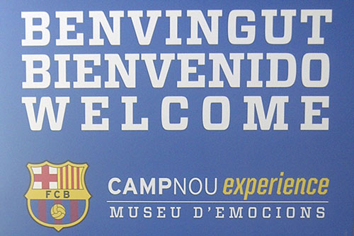 Welcome aread - Camp Nou experience