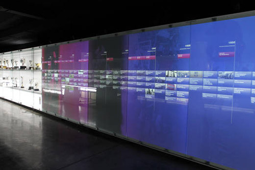 Interactive touchscreens at the museum
