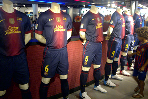 FC Barcelona 2012-2013 official home kits at the shop