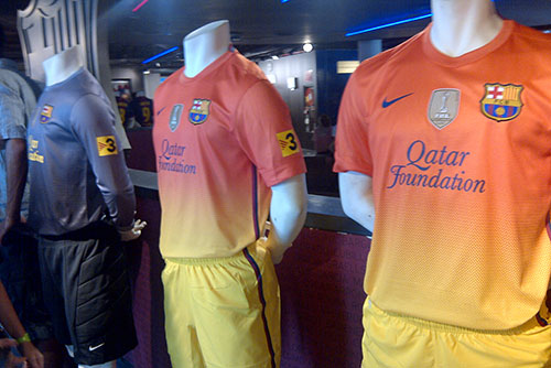 FC Barcelona 2012-2013 official away kits at the shop